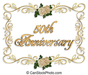 rosas, aniversario, 50th