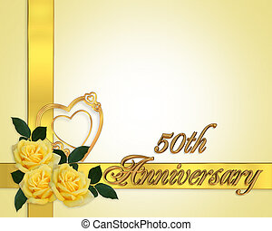 rosas, aniversario de la boda, amarillo, 50th