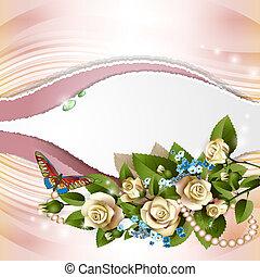 rosas, blanco, Plano de fondo