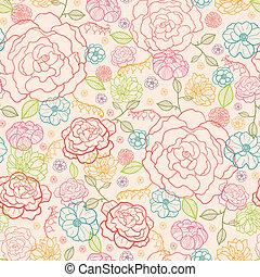 rosas cor-de-rosa, seamless, padrão experiência