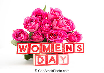 rosas cor-de-rosa, woode, buquet, logo