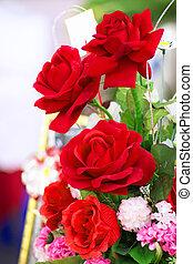 rosas, dia, vermelho, valentine