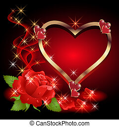 rosas, estrellas, humo, corazón
