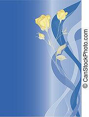 rosas, experiência azul