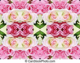rosas, flores, fundo