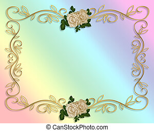 rosas, invitación boda