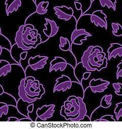 rosas, negro, seamless, plano de fondo