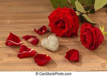 rosas, para, dia valentine, e, dia mãe