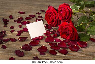 rosas, para, valentine, e, dia mãe
