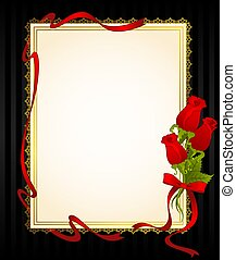 rosas, renda, ornamentos