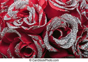 rosas rojas, para, día de valentines