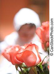 rosas, rojo