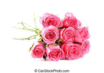 rosas rosa, ramo