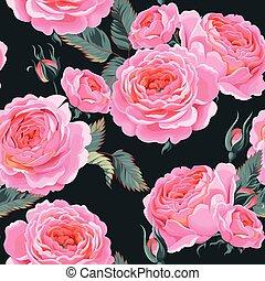 rosas, seamless, inglés