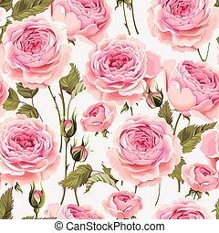 rosas, seamless, inglês