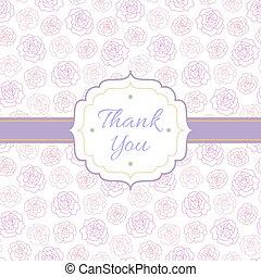 rosas, usted, agradecer, Plano de fondo
