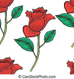 rosas, vector, seamless