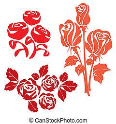 rosas, vermelho, sinal