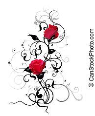 rose, élément