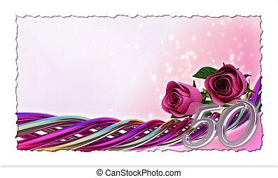 rose, étincelles, concept, anniversaire, roses
