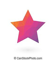 rose, étoile pourpre, coloré