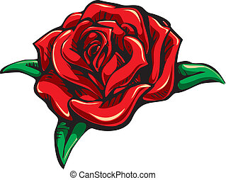 A Vector rose with shadow and highlights.