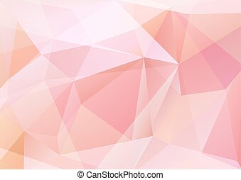 rose abstract background - Abstract polygonal pattern with...
