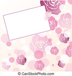 Rose abstract vector card