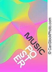rose, affiche, musique électronique