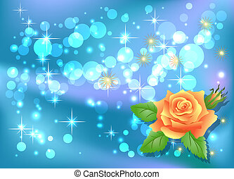 Rose and boke - Glowing background with rose and boke