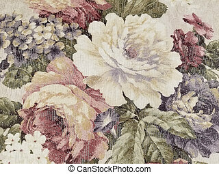 rose and hydrangea floral fabric design