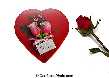 Rose and Red Candy Heart