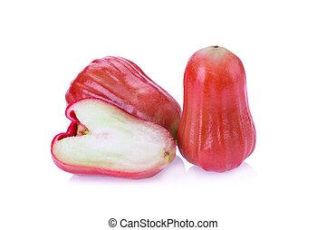 Rose apple isolated on white background.