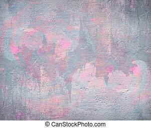 rose, aquarelle, résumé, gris, fond