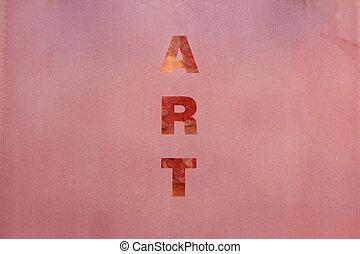 rose, art, mot, surface