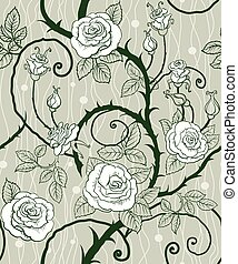 Rose background seamless