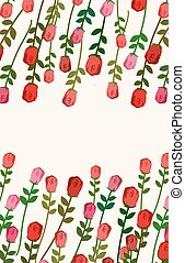 Rose background with space for text. Vector illustration of flowers