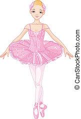 rose, ballerine
