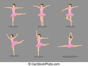 rose, ballerine, danseur, tutu, classique