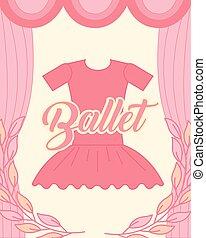 rose, ballet, tutu, élégance, vêtements