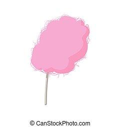 Rose fauteuil dessin anim ic ne style fauteuil isol illustration vecteur dessin anim - Barbe a papa dessin anime ...