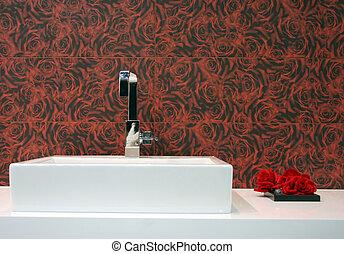 Rose bathroom - home interiors