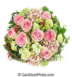 rose, beau, fleurs, roses., bouquet