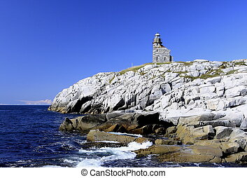 An historic lighthouse in Rose Blanche Newfoundland