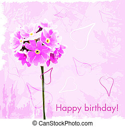 rose bloemen, verjaardag kaart, vrolijke