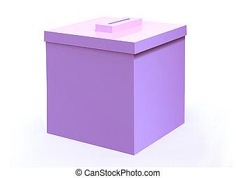 rose, boîte, vote, élection