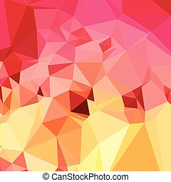 Rose Bonbon Pink Abstract Low Polygon Background - Low...