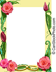 Border with color roses