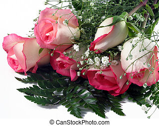 Rose Bouquet - Bouquet of white and pink roses