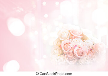 rose bouquet on pink background